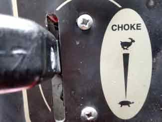 mower choke