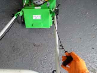starting mower