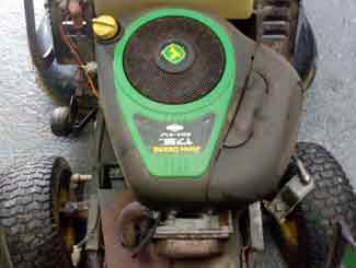 Ride-on mower engine