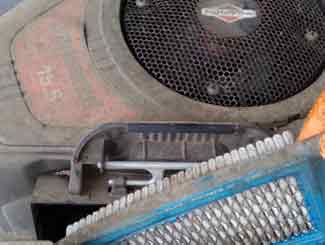 Ride-on mower air filter