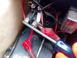 mower solenoid test