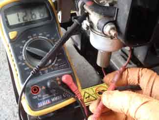 Ride-on mower solenoid test