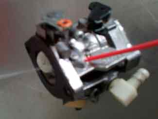 Ride-on carburetor