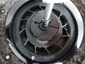 mower starter pulley