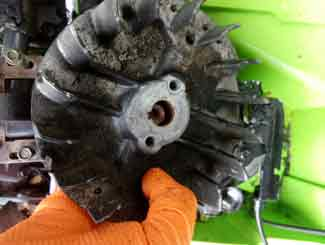 Mower flywheel