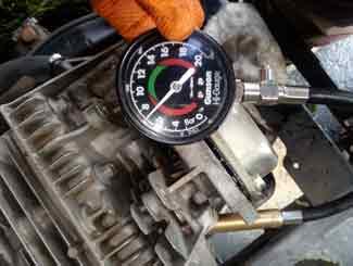 Mower engine test