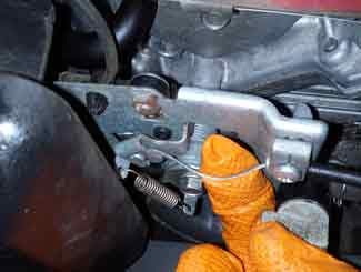 Mower cable adjustment