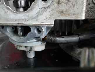 Honda mower gas line