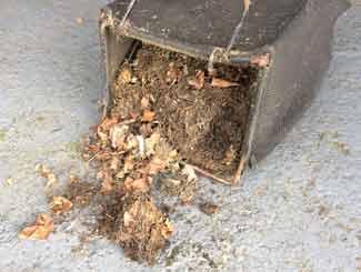 Mower grass bag clean