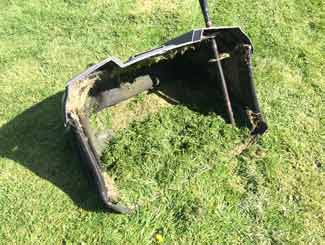 riding mower grass box