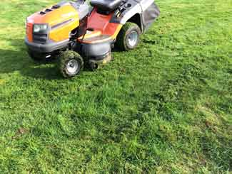 mower grass trailings