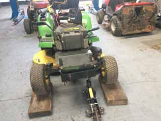 tractor mower deck cleaning
