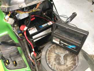 mower battery smart charger