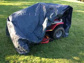 Mower under cover