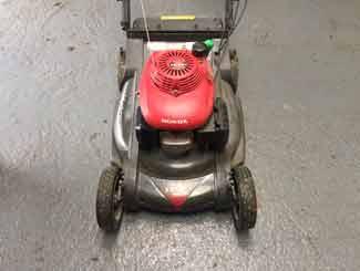 Mower in garage for winter